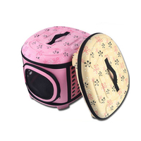 Hot Porfessional Dogs Cats Travel Bag Folding Small Pets Carrier Flower Print Travel Cage Collapsible Crate