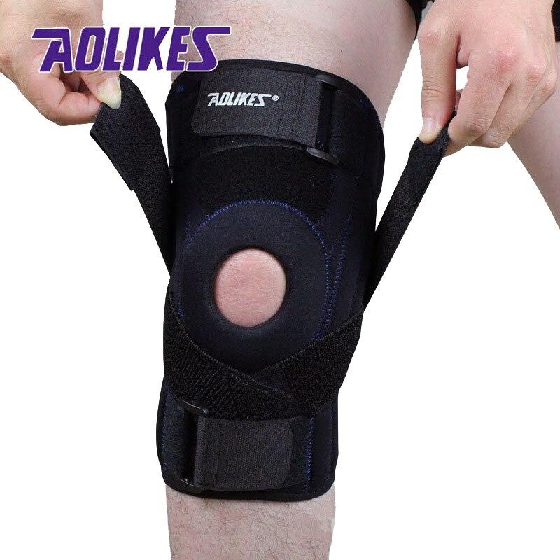 AOLIKES 1 PZ Professionale pad del ginocchio Menisco infortunio protetor de joelho Sicurezza Sport supporto ginocchiera tattico brace