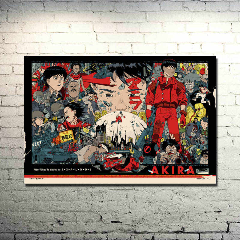 Akira Rode Vechten Anime Film Art Silk Poster Print 13x20 24x36 inches Pictures voor Decor 004