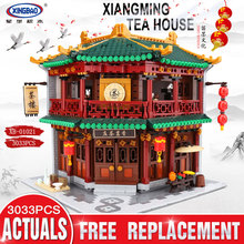XINGBAO 01021 New Toys 3033Pcs Chinese Building Series The Toon Tea House Set Building Blocks Bricks Kids Toys Birthday Gifts(China)