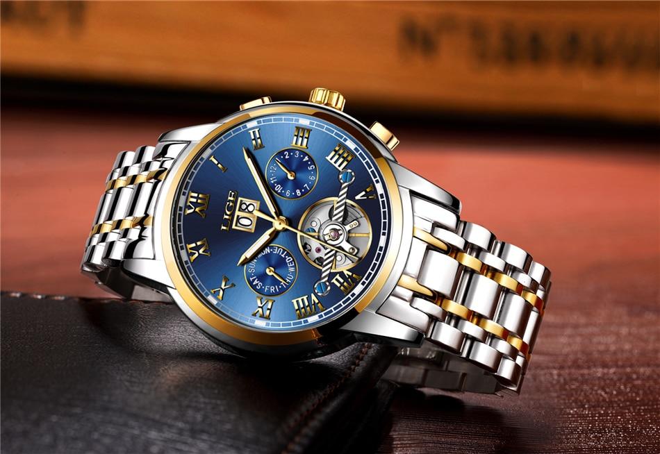 HTB1jo12qmtYBeNjSspkq6zU8VXaO LIGE Mens Watches Top Luxury Brand Automatic Mechanical Watch Men Full Steel Business Waterproof Sport Watches Relogio Masculino