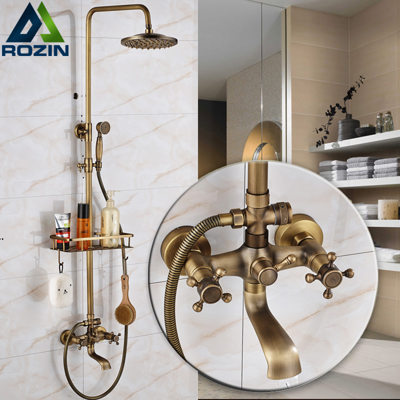 European Style Bathroom In Wall Shower Faucet Set 8