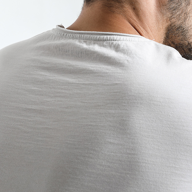 SIMWOOD 2018 Summer New Raw Crew Neckline T Shirt Men Slim Fit Vintage Washed Look 100% Cotton Tshirt Plus Size Tee Tops 180136