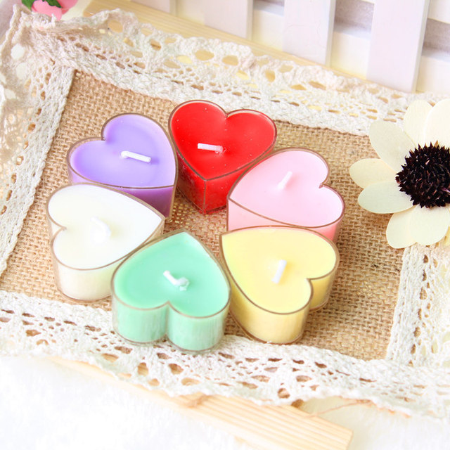 Heart Shaped Candle for Home