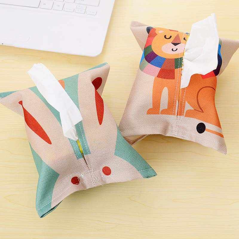 Мультяшный милый тканевый держатель для салфеток Обложка держатель бумажное полотенце чехол домашний декор TN88
