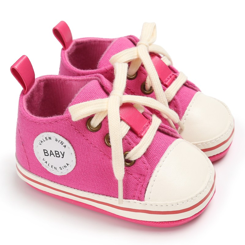 Infant Tollder Canvas Crib Shoes infantil Baby Winter Lace-up Shoes Baby Boys Sneaker Prewalker 0-18M baby shoes For Girls