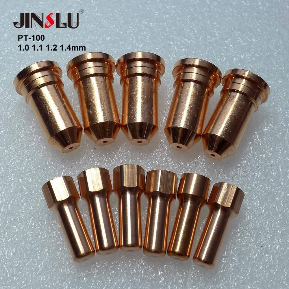 52556 51246 PT100 IPT-100 Plasma Electrode Tip For Cutter Torch 10 Pcs Fit FUBAG P100