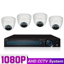 Video Surveillance System DIY Kit Full HD 1080P AHD DVR 4CH 24 IR LED 20m Night Vision Dome HD Security Camera Set Indoor
