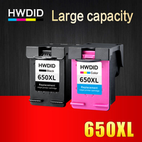 2pcs For HP 650 Ink Cartridge 650XL For HP Deskjet D2563 F4283 F2423 F2483 F2493 F4213