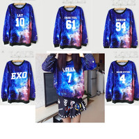 EXO Star Sweatshirt 2015EXO Should Aid Korean Harajuku Wind Long Sleeve Sweatshirt