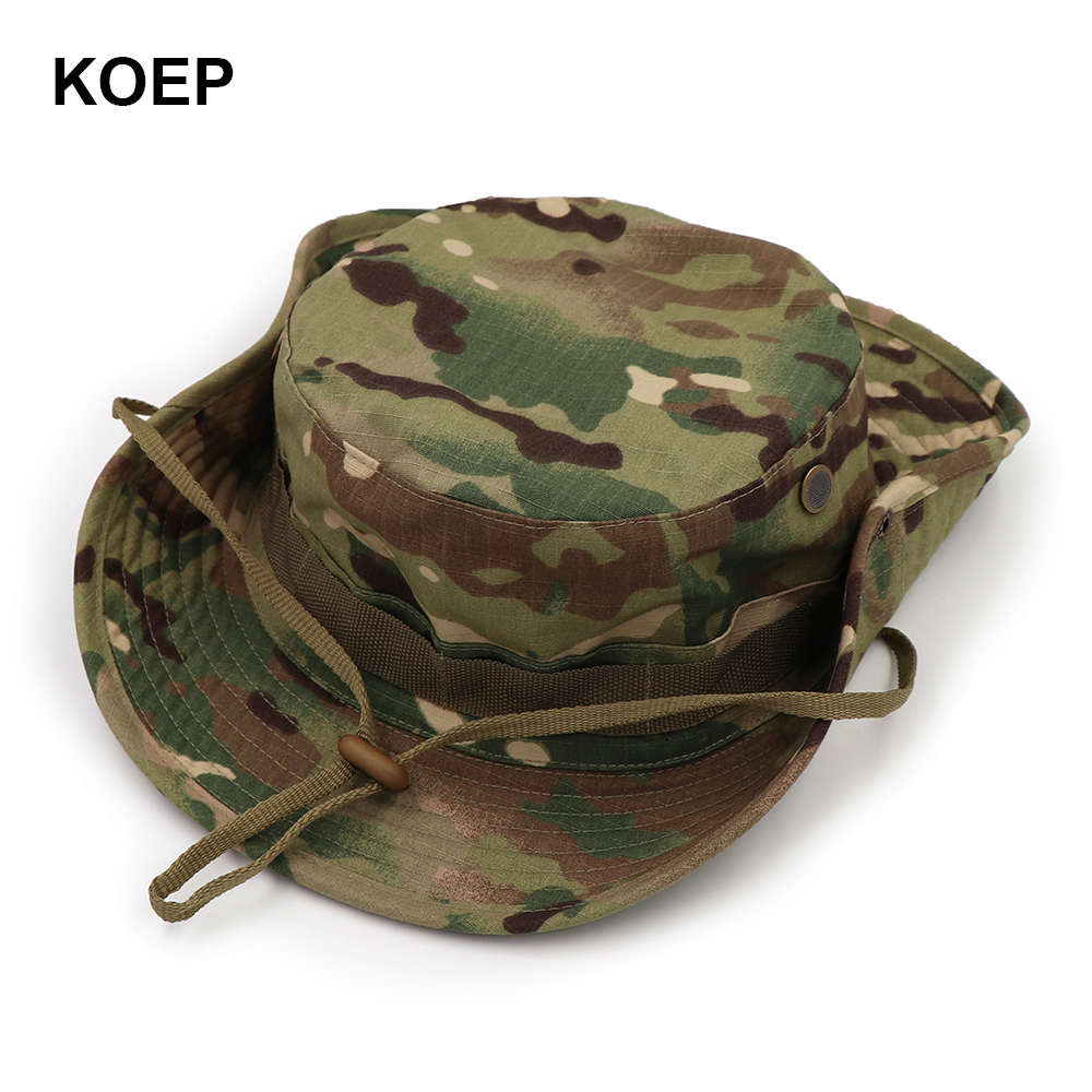 KOEP Nepalese Boonie Hats Tactical Airsoft Sniper Camouflage Tree Bucket  Hat Accessories Military Army American Military Men Cap-in Bucket Hats from  Apparel ... fed006c4c08b