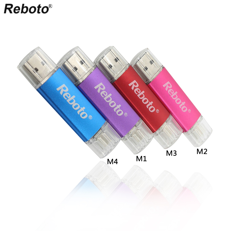 Double Use OTG USB Flash Drive 4gb 8gb 16gb 32gb 64gb USB Stick Memory Pen Drive For Android Phone Table PC