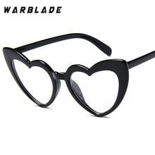 2018 Dames Zonnebril Heren Retro Hart Cat Eye-bril Groothandel Helder Damesbril Helderglazen voor Dames Oculos De Sol