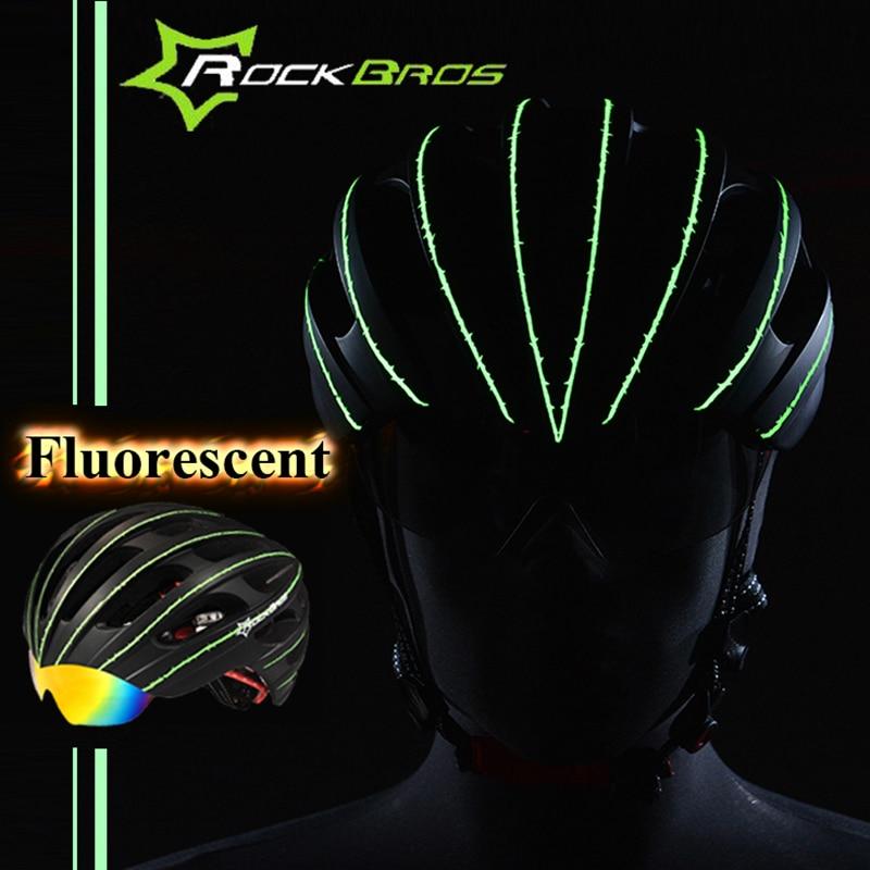 Rockbros kerékpáros sisak férfiak / nők Légáteresztő 32 Légáteresztő védőszemüveg Kerékpár kerékpáros sisak 3 páros lencsével Casco Ciclismo