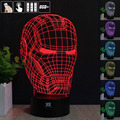 HUI YUAN Iron Man D Night Light RGB Changeable Mood Lamp LED Light DC 5V USB Decorative Table Lamp Get a free remote control