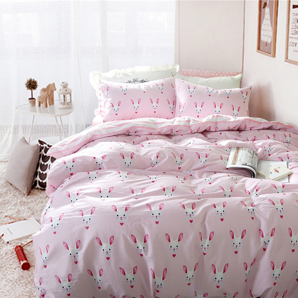 online get cheap good cotton sheets aliexpresscom  alibaba group - pink cotton bedding sets cute cartoon rabbits printed good present forchildren comfortable and pretty suitable