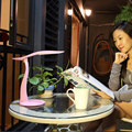 Foldable Table LED Lamp Touch USB Charge Desk Light Dimmable Home Bedroom