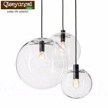 Qiseyuncai Nordic  Globe Chrome  Glass Ball Pendant Lamp E27 lamp holder  Kitchen Light Fixture Indoor Home Lighting недорого