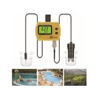 Professional Portable High Precision Online PH/Temp Meter for Aquarium Acidimeter Water Quality Analyzer EU Plug