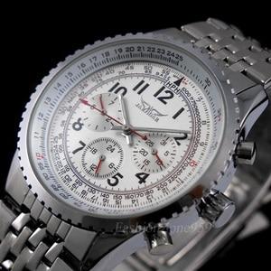 Image 4 - Original jaragar relógios masculinos militar aço completo automático auto vento relógio de pulso masculino mecânico de luxo