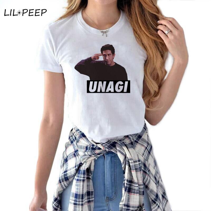 UNAGI Women T-shirt VOGUE Letter Printed Tshirts Casual Tops Tee Harajuku Aesthetic Vintage White Shirt Woman Clothing Female