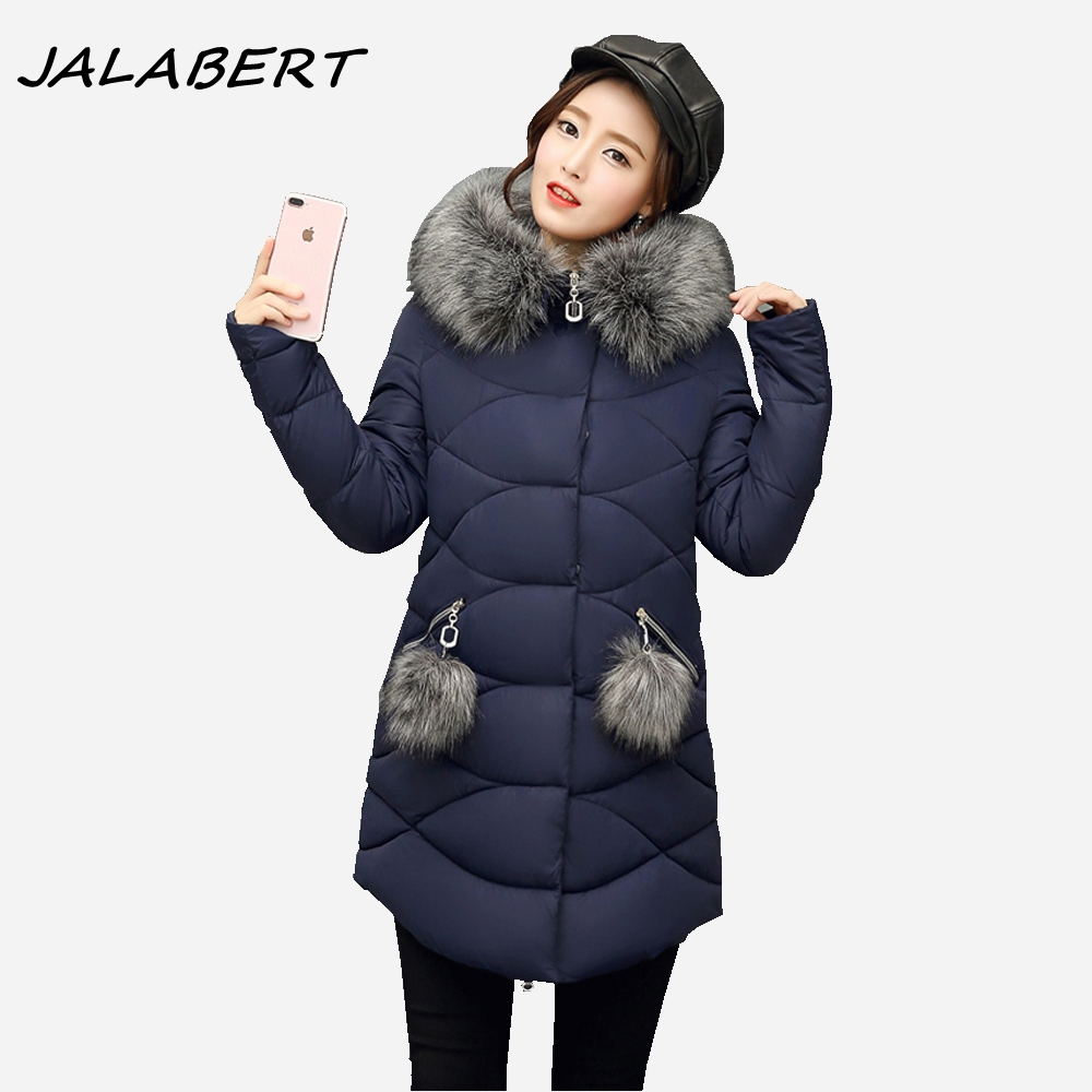 Women New Winter 2017 Long Irregular Hooded Large Fur Collar Thick Warm Cotton Jacket Female Hairball Slim Parkas Turmeric Coat 2017 new fashion winter jacket women long slim large fur collar warm hooded down cotton parkas thick female wadded coat cm1678