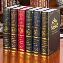 6PC  European style of the ancient book props Villa Club soft decoration box one window simulation Fake Book mode