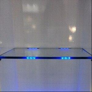 Image 4 - AIBOO светодиодный светильник под шкафом для стеклянной полки с краями задняя сторона зажим полосы освещения 4 лампы с радиочастотным пультом и адаптером