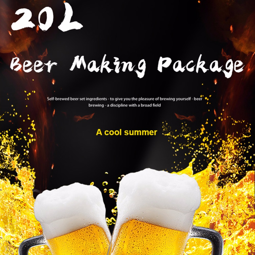 20L Beer Kit Package home brewing ingredients with beer yeast hops malt for  making Belgian wheat Pale Ale Stout Amber Abbey IPA