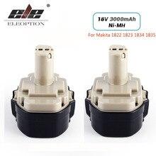 ELEOPTION 2 pack/lote 18V 3000mAh recambio para batería Ni MH para Makita 18V 1822 1823 1834 1835 3 192827 9 192829 1