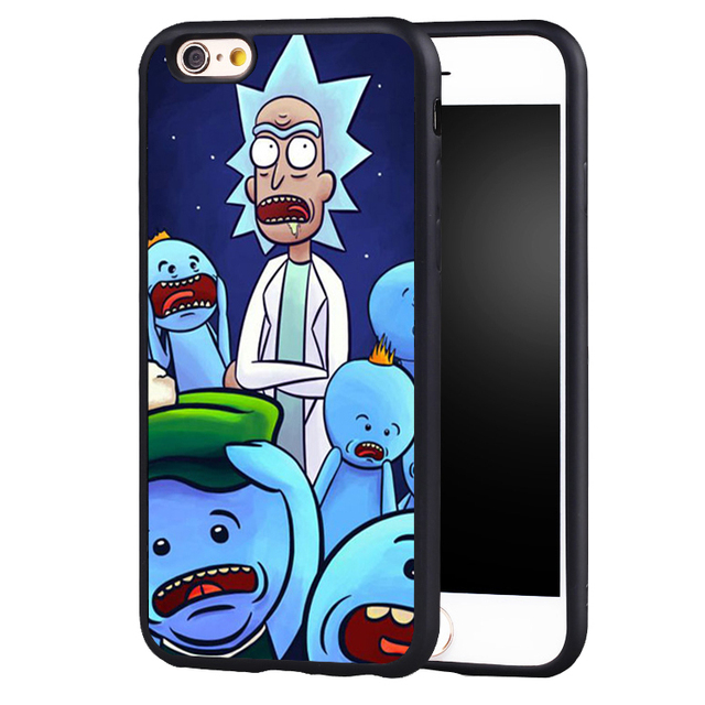 newest e4f3d aac3d US $4.99 |Rick and Morty Season Mr. Meeseeks Soft TPU Silicone Full  Protective case Cover For iPhone X 8 7 7Plus 6 6S Plus 5 5S 5C SE-in Fitted  Cases ...