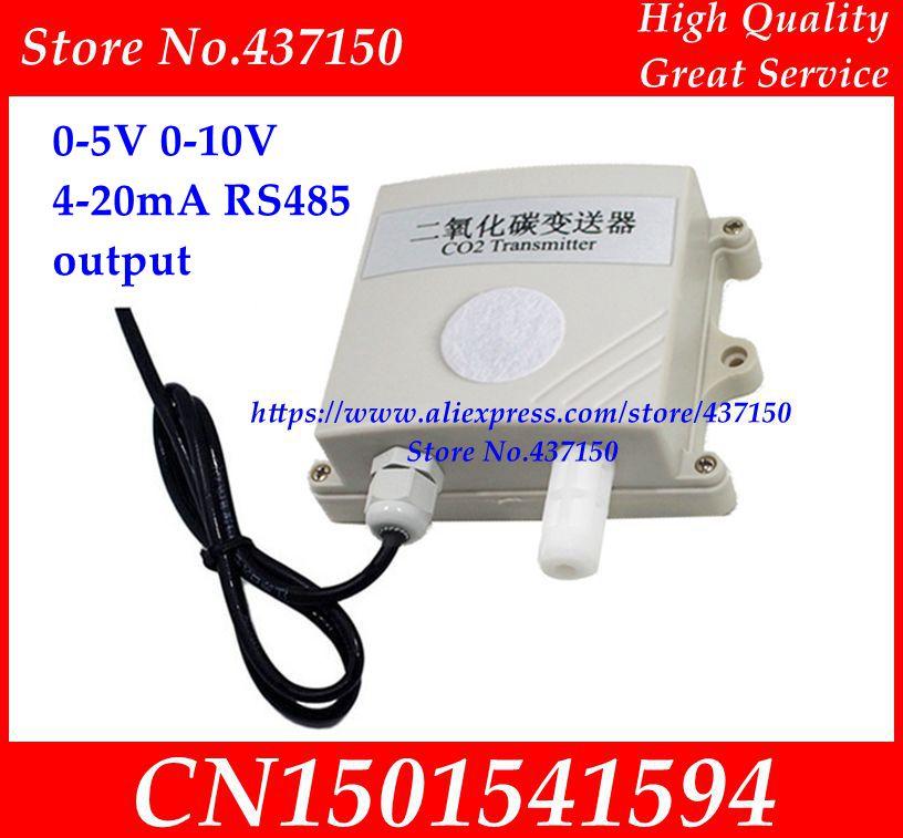 CO2 Sensor Detector CO2 transmitter 0 5V 0 10V 4 20mA RS485 output analog high precision
