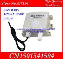CO2 sensör dedektörü CO2 verici RS485 çıkış Analog yüksek hassasiyetli endüstriyel sensörü 0 5V 0 10V 4 20ma nem sensörü