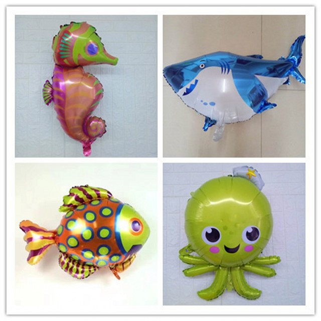 Cartoon shark octopus seahorse aluminium foil balloon child gift cartoon shark octopus seahorse aluminium foil balloon child gift toy birthday party store wedding decoration supplies junglespirit Choice Image