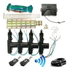 2/4 Door Bracket Locking Keyless Entry System 360 Degree Rotation Universal Car Auto Remote Central Fob Alarm Security Kit