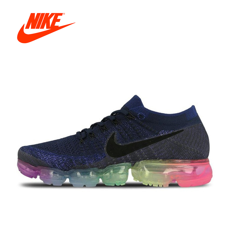 Original Nike Air VaporMax ser verdad Flyknit transpirable zapatos corrientes de los zapatos de los deportes atléticos malla nueva llegada