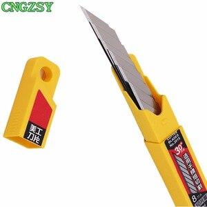 Image 5 - CNGZSY cuchillo de utilidad artística, 50 Uds., cuchillas para papelería, papel escolar, gráficos, oficina, bricolaje, cortador de película de coche, CORTE DE VINILO E02 + 5E03