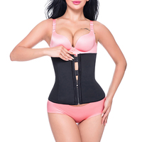 Miss Moly Hook Zipper Rubber Latex Waist Trainer Sexy Corsets And Bustiers Waist Cincher Corset Tops