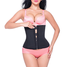 Miss Moly Hook Zipper Rubber Latex Waist Trainer Sexy Corsets and Bustiers Waist Cincher Corset Tops Slimming Shapewear