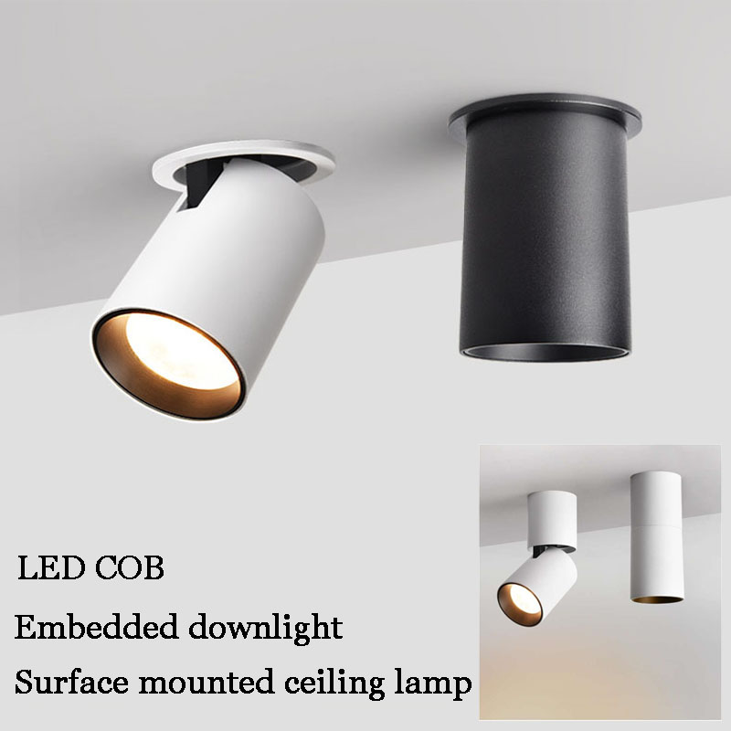 US $22.13 40% OFF|LED Ceiling light Surface mounted Dimmable Ceiling lamps  Cylinder 9W 15W for Bedroom,Living room,study,office,shop,Studio-in Ceiling  ...