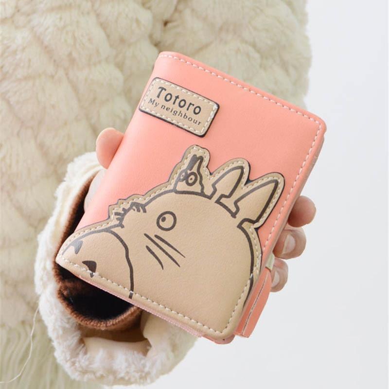 New Arrival Totoro Cartoon Short Wallet Women Girls My Neighbor Totoro Card Holder Zipper Clutch Coin Purse Carteira Feminina