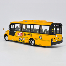 Alloy Model Gift 1:38 Original King Long  XMQ6900BSD Smart School Transit Bus Vehicle DieCast Toy Model Collection Decoration