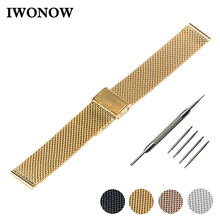 Milanese Stainless Steel Watch Band 18mm 20mm 22mm for Timex