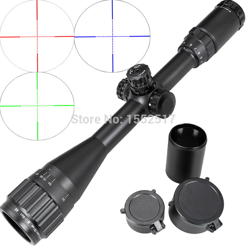 Leapers Tactical 4-16X40 AO Riflescope Optical Sight Full Size Mil Dot Red Green Blue llluminate Hunting Rifle Scope tactial qd release rifle scope 3 9x32 1maol mil dot hunting riflescope with sun shade tactical optical sight tube equipment