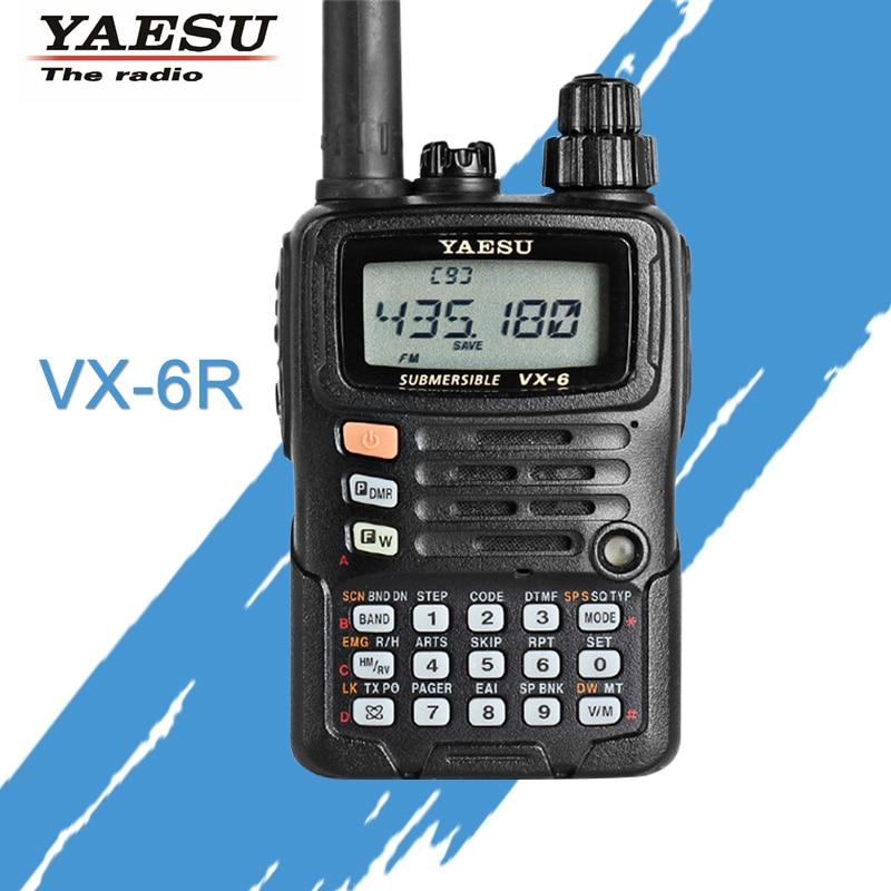 שיחת טלפון YAESU VX-6R Dual Band 140-174 / 420-470 MHz FM - ווקי טוקי