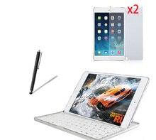 4in1 Aluminum Wireless Bluetooth Keyboard Metal Case Cover for Apple iPad Mini 2 3 4 Mini2 Mini3 Mini4 7.9″ +2x Films +1x Stylus