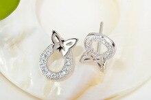 925 Sterling Silver Earring Simple Butterfly AAA Zircon Stud Earrings Fashion For Women Girlfriend Jewelry SE034
