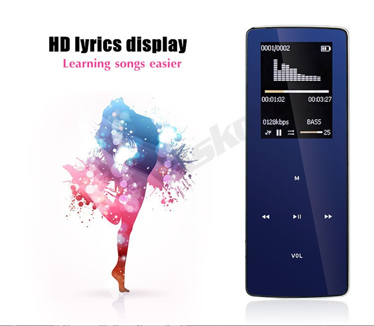 ONN W6 Rechargeable 8GB Bluetooth MP3 Player Mini Sport Mp3 HIFI Lossless Music Media Audio Player with 1.8 TFT Screen Fm Radio (6)
