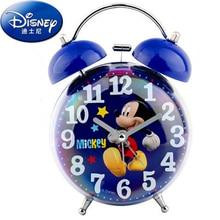 Disney Mickey Mouse Alarm Clock New 3d Cartoon Stitch Cars Frozen Student Boy Girl Kids Night Light Bedside Bell