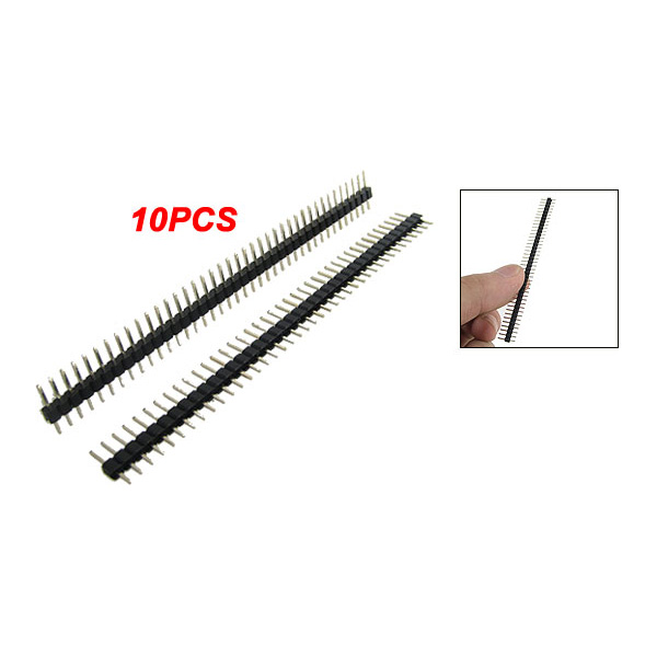 DHDL- 10 pcs 1x40 Pin 2.0mm Pitch Single Row PCB Pin Headers